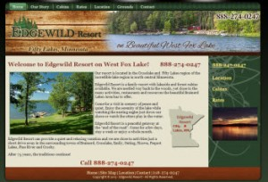 Brainerd - Crosslake MN Cabin Resort - Edgewild Resort on West Fox Lake - Fifty Lakes