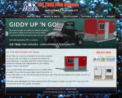 Ice trek fish houses bamsites website marketing for Ice trek fish house